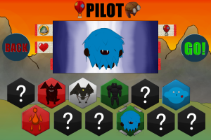 Pilot Selection Screen
