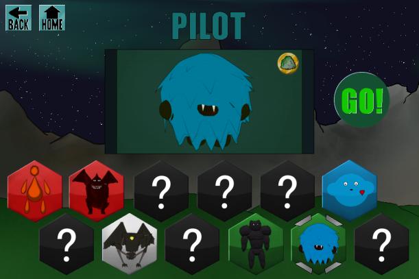 Pilot Selection Screen