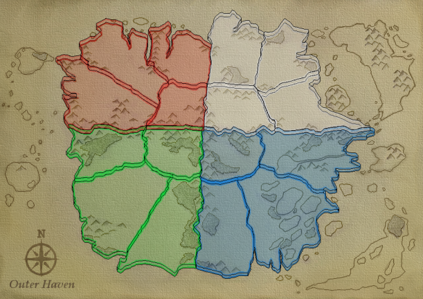 World Map BG WITH AREAS